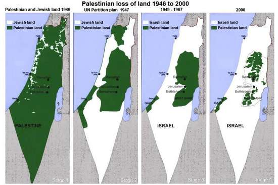 از چپ به راست پیشرفت غده سرطانی اسراییل را ملاحظه کنید.آیا چیزی جز جراحی می تواند این غده را از بین ببرد